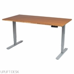 "UPLIFT 900 Sit-Stand Desk with Premium 1"" Thick Bamboo Top"