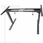 UpLift 900 Sit-Stand Ergonomic Desk Base (Silver Frame)