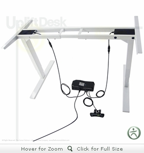 UpLift 900 Electric Sit-Stand Desk Base (Stone White)