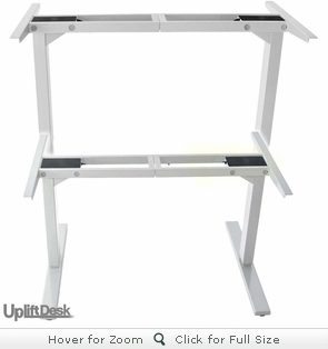 UpLift 900 Height-Adjustable Stand-Up Desk Base (Stone White Frame)
