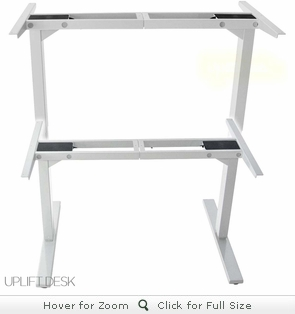 UPLIFT 900 Height-Adjustable Stand-Up Desk Base (White Frame)