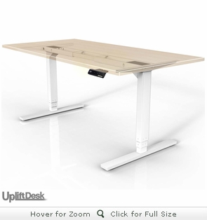 UPLIFT 900 Height-Adjustable Stand-Up Desk (Stone White)