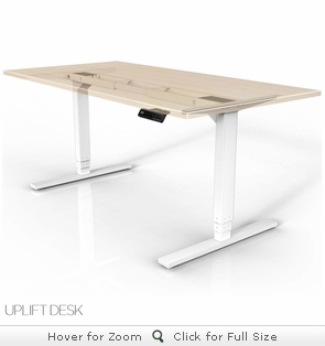 UPLIFT 900 Height-Adjustable Stand-Up Desk (White)
