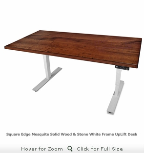 UPLIFT 900 Mesquite Solid Wood Height-Adjustable Stand-Up Desk