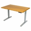 "UPLIFT Desk with Custom Cut 1.5"" Thick Bamboo Top"