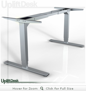 UpLift 900 Sit-Stand Ergonomic Desk Base (Silver)