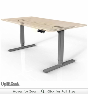 UPLIFT 900 Sit-Stand Electric Desk (Silver)