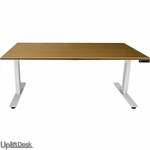 "UPLIFT 900 Sit-Stand Ergonomic Desk with Premium 1.5"" Thick Bamboo Top"