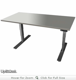 UPLIFT 900 Stainless Steel Height Adjustable Desk