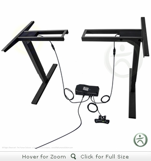 UpLift 920 Electric Sit-Stand No-Crossbar Desk Base (Black)