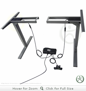 UpLift 920 Electric Sit-Stand No-Crossbar Desk Base (Silver)