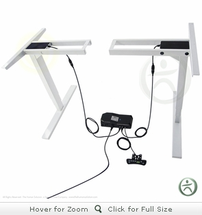 UpLift 920 Electric Sit-Stand No-Crossbar Desk Base (Stone White)