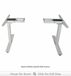 UPLIFT 920 No-Crossbar Height-Adjustable Standing Desk Base