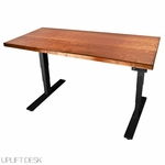 UPLIFT 920 Solid Wood No-Crossbar Height-Adjustable Standing Desk