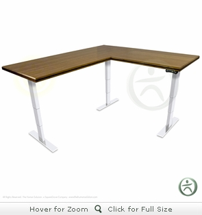 UpLift 950 Electric Sit-Stand L-Shaped Premium Bamboo Desk