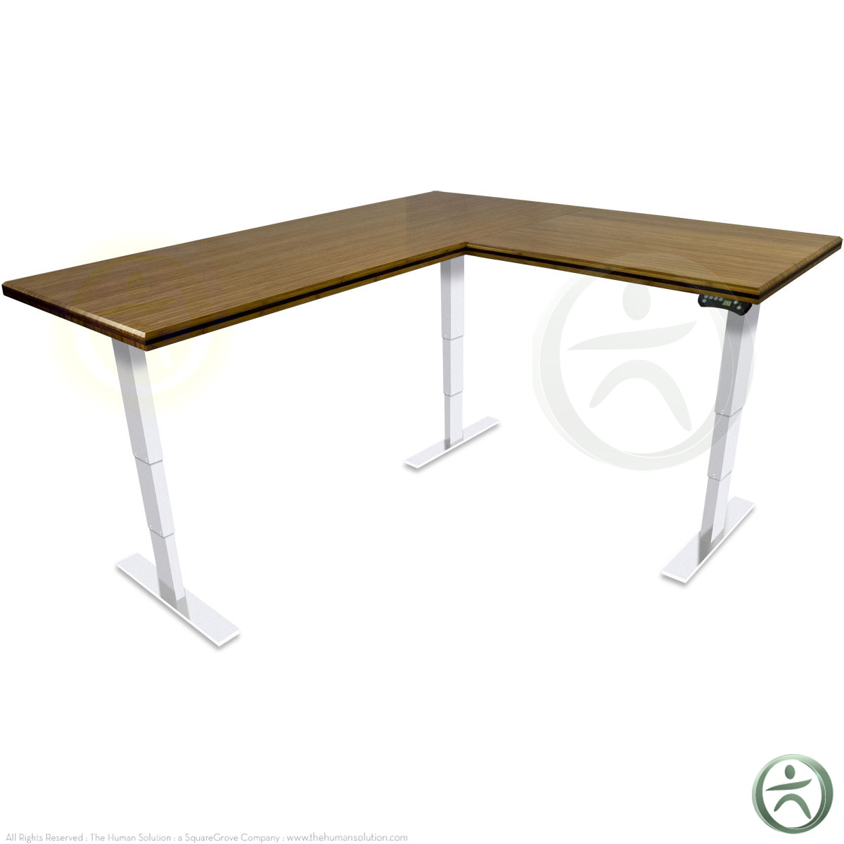 Shop Uplift 950 Premium Bamboo L Shaped Ergonomic Desks