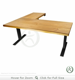 UpLift 950 Electric Sit-Stand L-Shaped Solid Wood Desk - Design Your Own