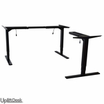 UPLIFT 950 Height-Adjustable 3-Leg Stand-Up Desk Base (Black Frame)