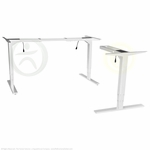UpLift 950 Sit-Stand 3-Leg Ergonomic Desk Base (Stone White)