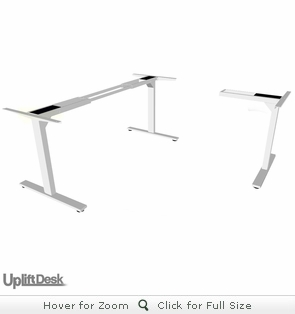 UpLift 950 Sit-Stand 3-Leg Ergonomic Desk Base (Stone White Frame)