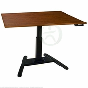 UpLift 970 Electric Sit-Stand Pedestal Desk (Black)