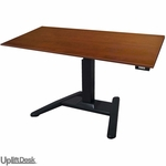 UpLift 970 Height-Adjustable Pedestal Standing Desk (Black)