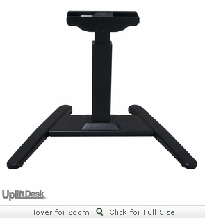 UpLift 970 Sit-Stand Ergonomic Pedestal Desk with Curved Top