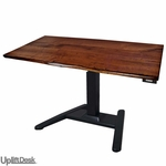 UpLift 970 Solid Wood Height-Adjustable Pedestal Stand-Up Desk