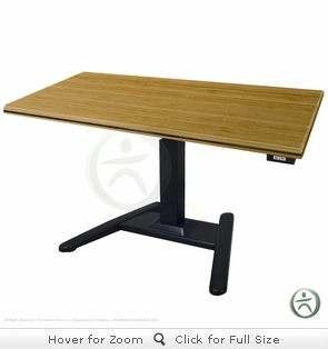 UpLift 970 Solid Wood Electric Sit-Stand Pedestal Desk