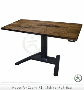 UpLift 970 Solid Wood Pedestal Desk - Next Day Ship