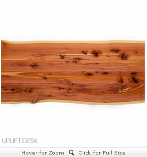 UPLIFT Cedar Solid Wood Desktop