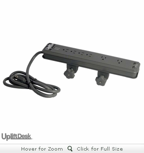 UpLift Clamp-On Surge Protector with USB Charger