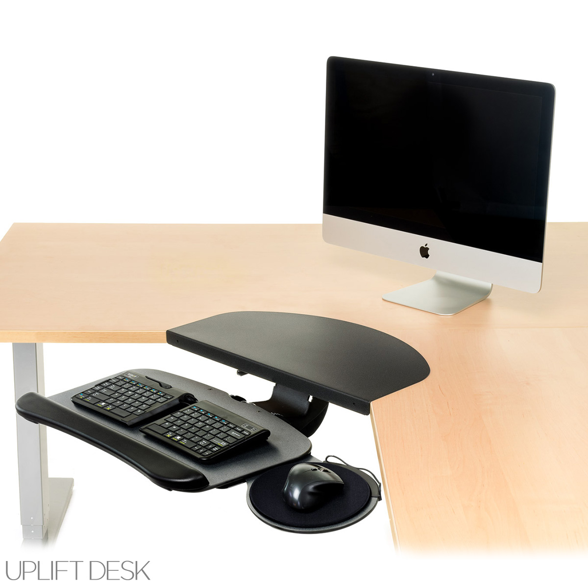 Desk Accessories UPLIFT Keyboard Tray Kit for Corner L-Shaped Desk