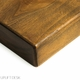 UPLIFT Dark-Stained Knotty Alder Solid Wood Desktop