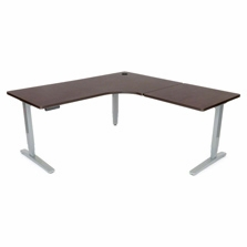 UPLIFT Height Adjustable Standing Desk with L-Shaped Top