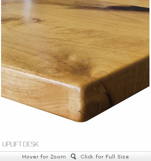 UPLIFT Natural Knotty Alder Solid Wood Desktop