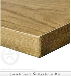 UPLIFT Solid Wood Desktop - White Oak