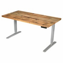 UPLIFT Stand Up Desk with Reclaimed Wood Top