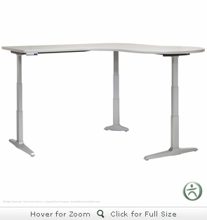 Workrite Sierra HX Adjustable Height Desk - P Peninsula Workcenter