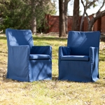Aragon Outdoor Easy Chairs 2pc Set