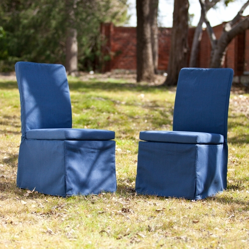 Aragon Outdoor Side Chairs 2pc Set