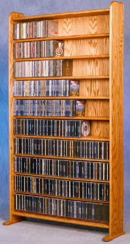 CD Rack Solid Oak 875