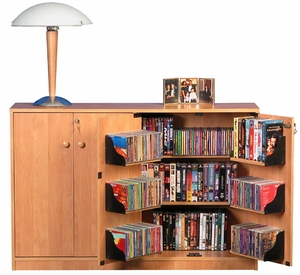Double Media CD Cabinet 600