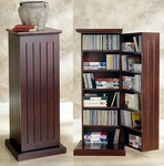 DVD Storage Pedestal Cherry