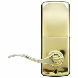 Electronic Keypad Lever Polished Brass