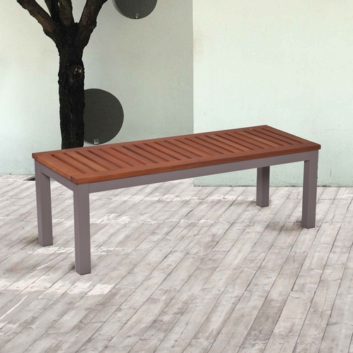 Mandalay Outdoor Backless Bench - Gray