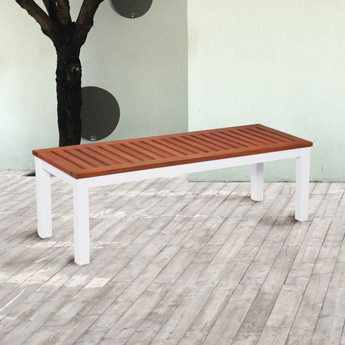 Mandalay Outdoor Backless Bench - Soft White
