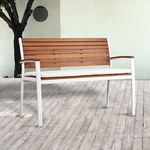 Mandalay Outdoor Bench - Soft White