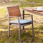 Mandalay Outdoor Easy Chairs 2pc Set - Gray