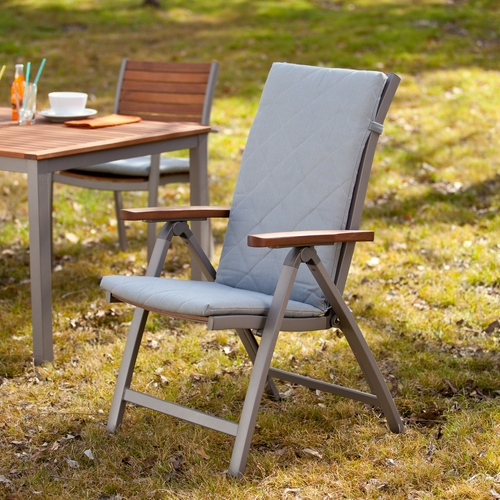 Mandalay Outdoor Position Chairs 2pc Set - Gray
